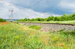 Sporen van de spoorweg royalty-vrije stock afbeelding