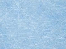 Sporen van de vleten op ijs Stock Afbeeldingen