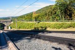 Sporen van Drachenfels-spoorweg stock fotografie