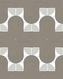 Sporen van gebogen en gebogen lijnen naadloos patroon Stock Afbeeldingen
