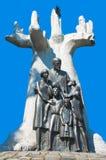 Sporen van Joods Warshau - Janusz Korczak Monument Stock Afbeeldingen