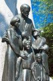 Sporen van Joods Warshau - Janusz Korczak Monument Stock Foto