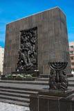 Sporen van Joods Warshau - Monument aan de Gettohelden Stock Afbeeldingen