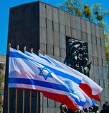 Sporen van Joods Warshau - Monument aan de Gettohelden Royalty-vrije Stock Afbeelding