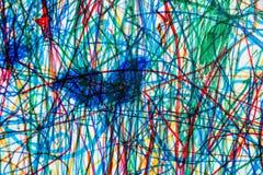 Sporen van kleurpotloden op papier als achtergrond vector illustratie
