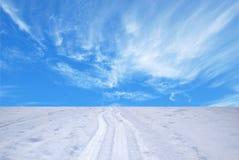 Sporen van ski Stock Fotografie