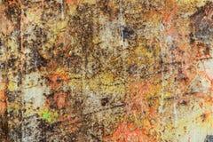 Sporen van verfschoten op houten raad stock afbeelding