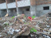 Sporen verlaten door bouw Stock Fotografie