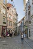 Sporgasse street in Graz Old Town, Austria. royalty free stock photo