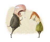 Sporgenza arrabbiata royalty illustrazione gratis