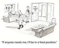 Sporgenza nella posizione fetale Fotografie Stock Libere da Diritti