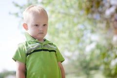 Sporgere le labbra del bambino Fotografia Stock