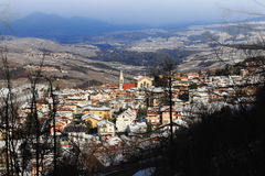Spormaggiore town in winter Royalty Free Stock Photography