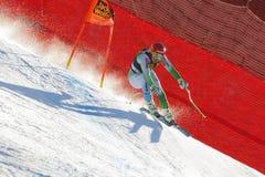 Sporn Andrej στο αλπικό Παγκόσμιο Κύπελλο σκι Audi FIS - Ρ των ατόμων προς τα κάτω Στοκ φωτογραφία με δικαίωμα ελεύθερης χρήσης