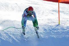 Sporn Andrej στο αλπικό Παγκόσμιο Κύπελλο σκι Audi FIS - Ρ των ατόμων προς τα κάτω Στοκ εικόνα με δικαίωμα ελεύθερης χρήσης