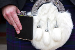 Sporran and Hip Flask Stock Photography