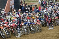 Sporsmen racers waiting to start Royalty Free Stock Photography