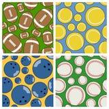 Sportów Bezszwowi wzory Ustawiający [2] Fotografia Stock