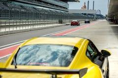 Sportów Bieżni samochody obraz royalty free