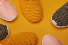 Sportów butów deseniowy tło Obraz Stock