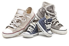 Sportów buty dla całej rodziny Zdjęcie Stock