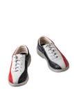 Sportów buty dla rzucać kulą odizolowywam na białym tle Obrazy Royalty Free