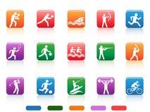 Sportów guzików ludzie Obrazy Royalty Free