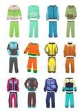 Sportów tracksuits dla chłopiec Zdjęcia Royalty Free