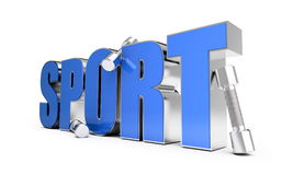 Sport. Is isolated on a white background Stock Photography