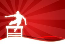 Sport. Wallpaper background with a silhouette of a man running stock illustration