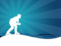 Sport. Wallpaper background with a silhouette of a man skating Royalty Free Stock Photography