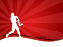 Sport. Wallpaper background with a silhouette of a man of baseball stock illustration
