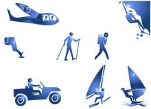 Sport-Abenteuer-Symbol-Ikone Lizenzfreie Stockbilder