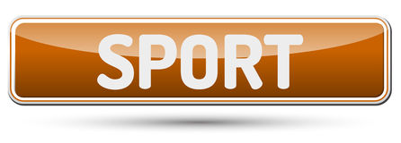 SPORT - Abstract beautiful button with text. Stock Images