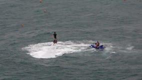 Sport acquatici sul Mar Nero video d archivio