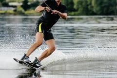 Sport acquatico di Wakeboarding immagine stock