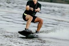 Sport acquatico di Wakeboarding fotografia stock libera da diritti