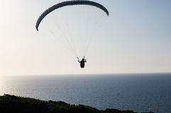 Sport activities. Flight Royalty Free Stock Images