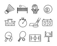 Sport activities symbols Royalty Free Stock Images