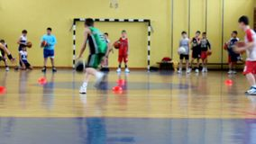 Sport activity of children stock footage