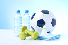 Sport activity items Stock Image