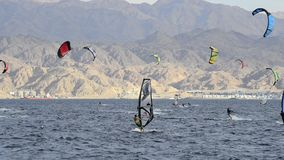 Sport activity at the Red sea, Eilat Royalty Free Stock Photos