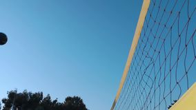 Sport Activity Volleyball Net. Video stock video
