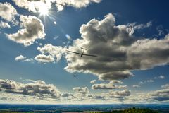 Sport aeroplane tow glider Royalty Free Stock Images