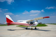 Sport aircraft ready to take off Royalty Free Stock Photos