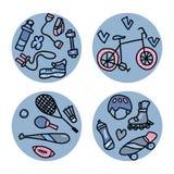 Sport aktywność symbole również zwrócić corel ilustracji wektora ilustracji
