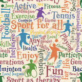 Sport for all seamless tile Royalty Free Stock Photos
