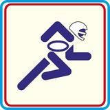 Sport american football isolated icon. Sport american football icon Stock Illustration