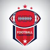 Sport American Football Logo. American style. Vector illustration Stock Photography
