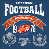 Sport American Football Logo. Royalty Free Stock Photo